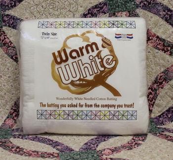 "The Warm Company Warm And White Cotton Batting 72""x90"""