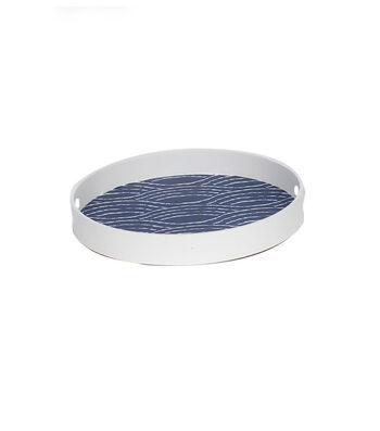 Indigo Mist 15.75''x2.13'' Tray-Waves on Blue