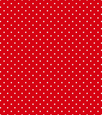 Tutti Fruitti Collection-Small Polka Dot Red & White
