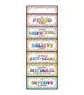 Smart Poly Clip Chart 9\u0022x24\u0022 Confetti Positive Behavior 10pk