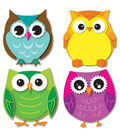 Colorful Owls Cut Outs 36/pk, Set Of 6 Packs