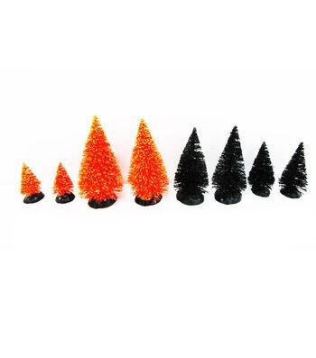 Maker's Halloween Littles 8 pk Trees-Orange & Black