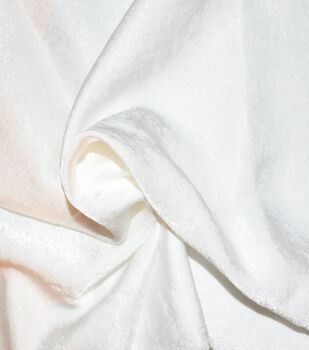 Silky Sanded Satin Fabric -White