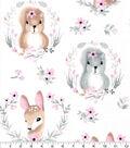 Nursery Flannel Fabric-Hazel Portrait Friends