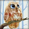 RTO Diamond Mosaic Embroidery Kit 15X15cm-Owlet