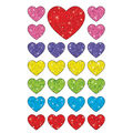 Sparkle Hearts superShapes Stickers-Sparkle 12 Packs