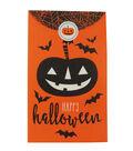 Cheer & Co. Halloween 8 pk 3\u0027\u0027x5\u0027\u0027 Favor Gift Bags with Seals-Pumpkin