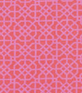 Snuggle Flannel Fabric -Pink Geometric