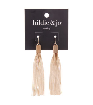hildie & jo Copper, Iron & Zinc Alloy Tassel Earrings-Gold