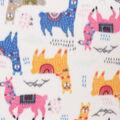 Blizzard Fleece Fabric-Bright Llamas