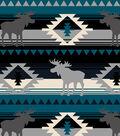 Snuggle Flannel Fabric -Blue Aztec