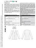 Mccall Pattern V8519 Aa (6-8-10-Vogue Pattern