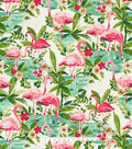 Waverly Upholstery Decor Fabric-Floridian Flamingo in Bloom
