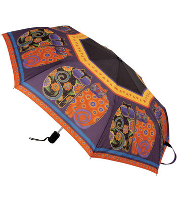 Laurel Burch Compact Umbrella-Feline Family Portrait