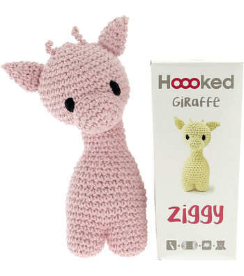 Hoooked Ziggy Giraffe Kit with Eco Barbante Yarn-Blossom