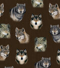 Snuggle Flannel Fabric -Lone Wolves