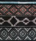 Luxe Fleece Fabric -Bison Gray Geometric