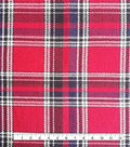 Perfectly Plaid Reversible Fabric 50\u0022-Red Houndstooth