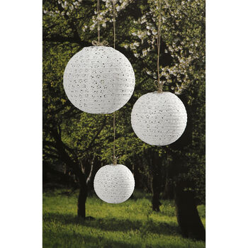 Lace Look Paper Lantern White