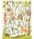 Wooded Alphabet Counted Cross Stitch Kit-9\u0022X12\u0022 14 Count