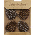 Jolee\u0027s Boutique Christmas Stickers-Glittered Edge Pine Combs
