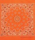 Carolina 21\u0027\u0027x21\u0027\u0027 Cotton Bandana-Neon Orange Paisley