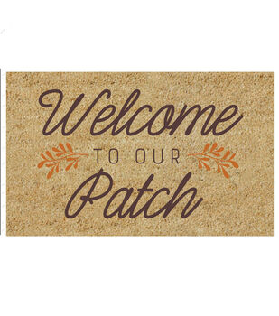 Simply Autumn Tufted Coir Mat-Welcome to Our Patch on Natural
