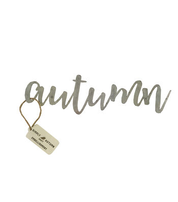 Simply Autumn 9'' Galvanized Metal-Autumn