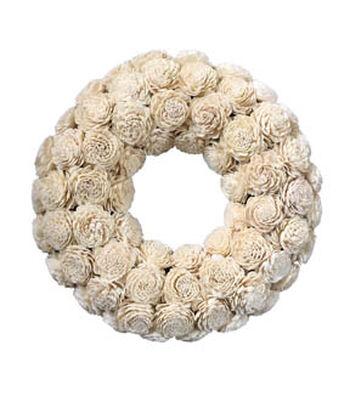 Fresh Picked Spring 16''x16'' Sola Wreath-Ivory