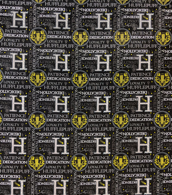 Harry Potter Cotton Fabric Celestial Hufflepuff, , hi-res, image 2