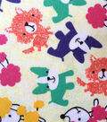 Snuggle Flannel Fabric -Pop Of Color Pups