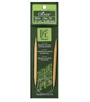 "Clover Bamboo 16"" Circular Knitting Needle-Size 10, , hi-res"
