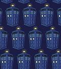 Doctor Who Knit Fabric -Tardis
