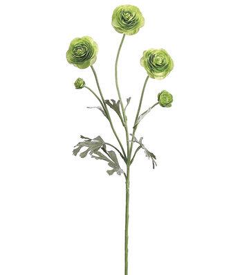"Bloom Room 29"" Ranunculus Spray-Green"