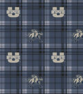 Utah State University Aggies Fleece Fabric -Plaid
