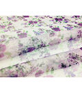 Sew Sweet Organza Fabric 57\u0027\u0027-Purple Blossoms