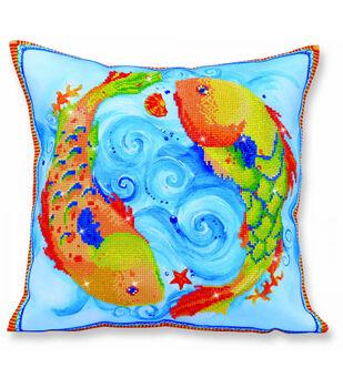 Diamond Dotz Decorative Pillow Kit-Dancing Fish