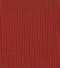 Keepsake Calico Holiday Cotton Fabric 43\u0022-Metallic Gold Stripe on Red