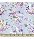 Disney Fairies Tinkerbell Print Fabric-Watercolors