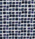 Keepsake Calico Cotton Fabric-Navy Spaced Tiles