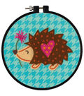 Dimensions Learn-A-Craft Felt Applique Stitch Kit-Little Hedgehog
