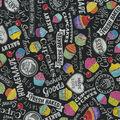 Novelty Cotton Fabric-Chalkboard Cupcakes