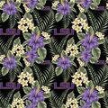 Louisiana State University Cotton Fabric-Tropical