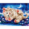 Diamond Embroidery Facet Art Kit 17\u0022X13.7\u0022-Baby Tiger Roly Poly