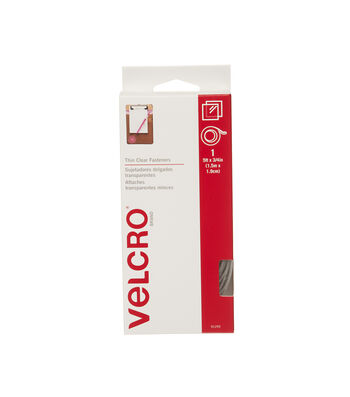 VELCRO Brand Thin Clear 5'x3/4' in Tape - Clear