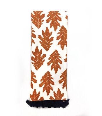 Simply Autumn 16''x28'' Towel-Orange Oak Leaf