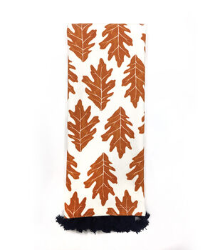 Simply Autumn 16''x28'' Towel-Orange Oak Leaf