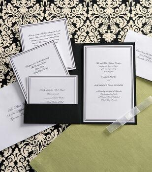 Wilton Elegance Invitation Kit-Black & White