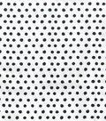 Snuggle Flannel Fabric 42\u0022-Smudged Dots Black