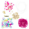 LaurDIY Mini DIY Peace Stretch Bracelet Kit-Pink & Blue